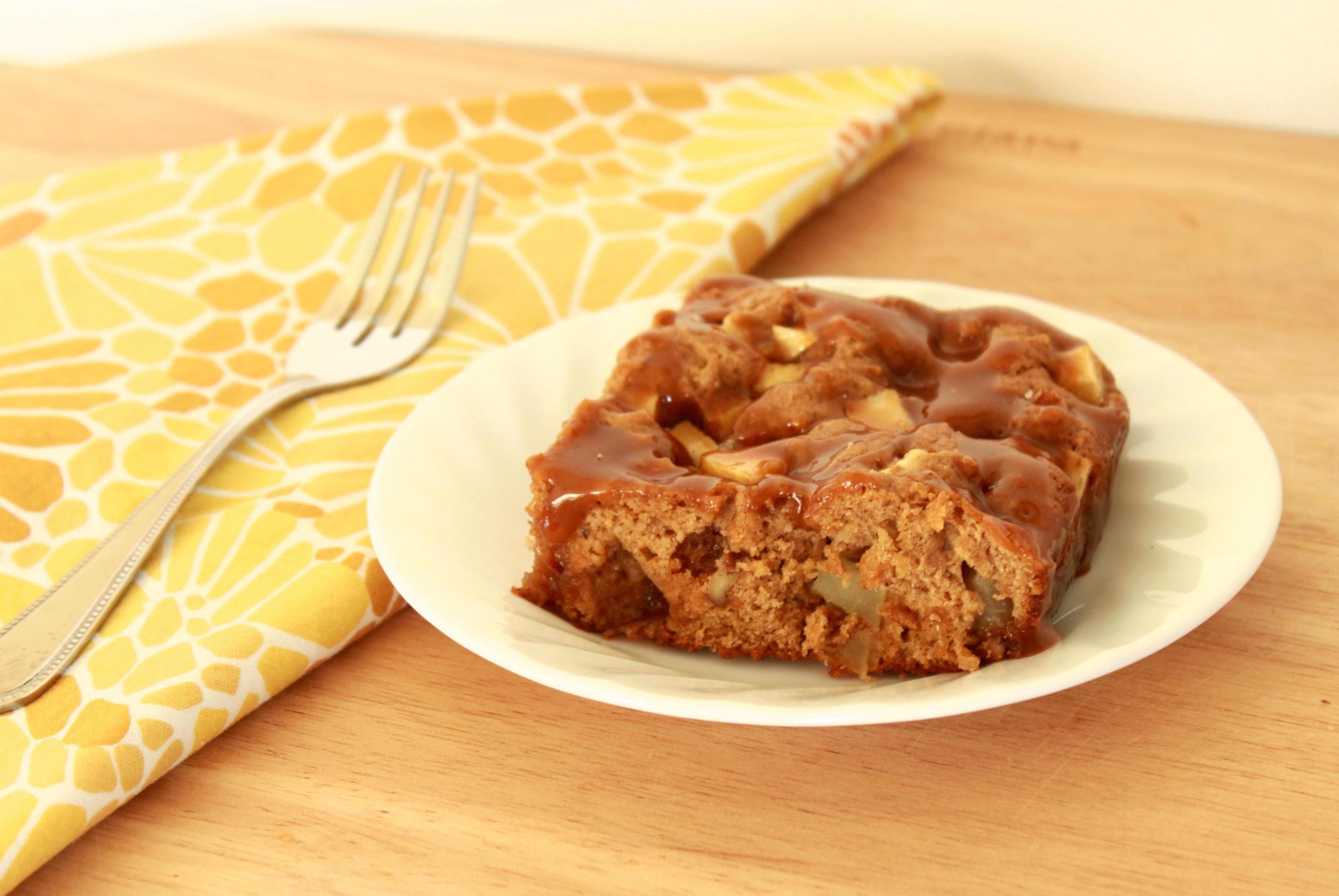 Apple Cake with Salted Caramel Glaze - Recipe Runner