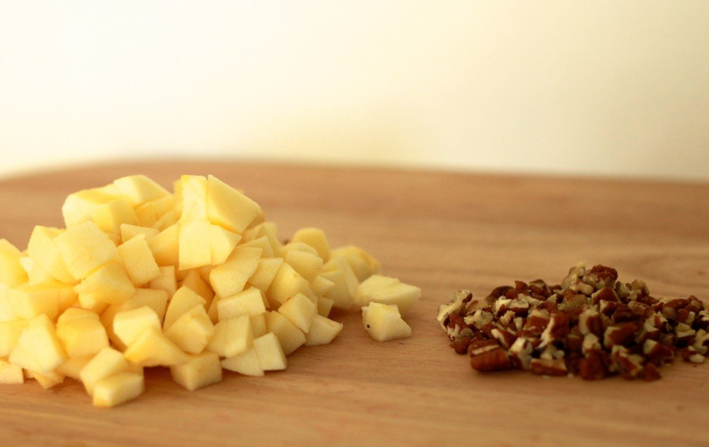 Chopped Apples and Almonds