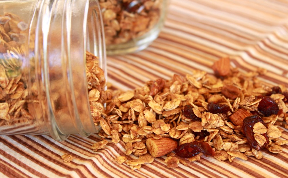 Chai Spiced Granola in jar