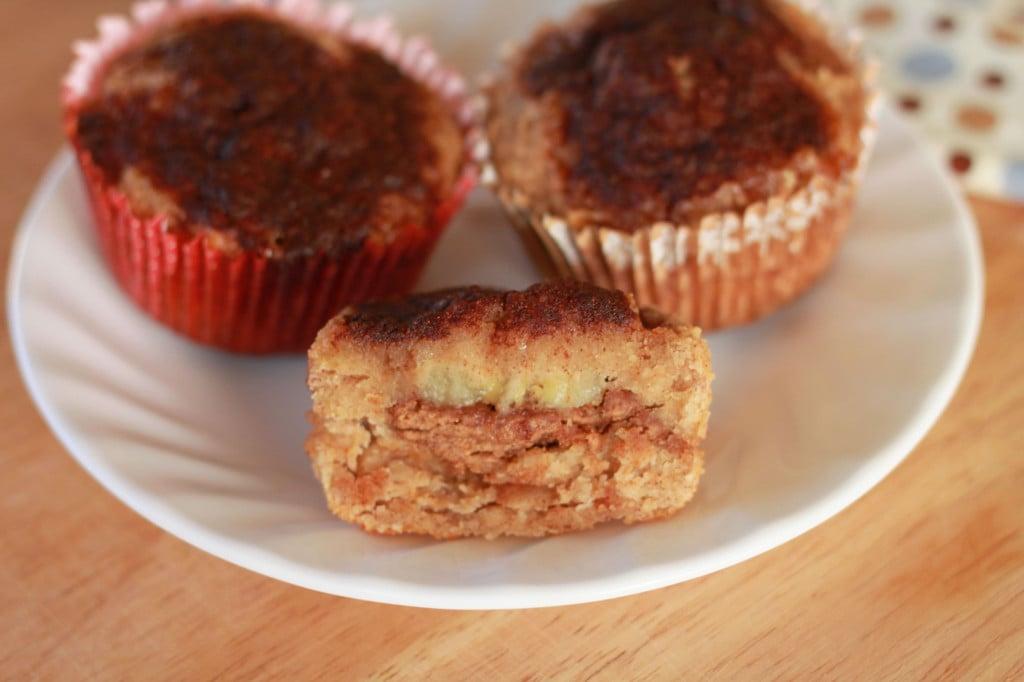 Banana Almond Stuffed Muffins 2