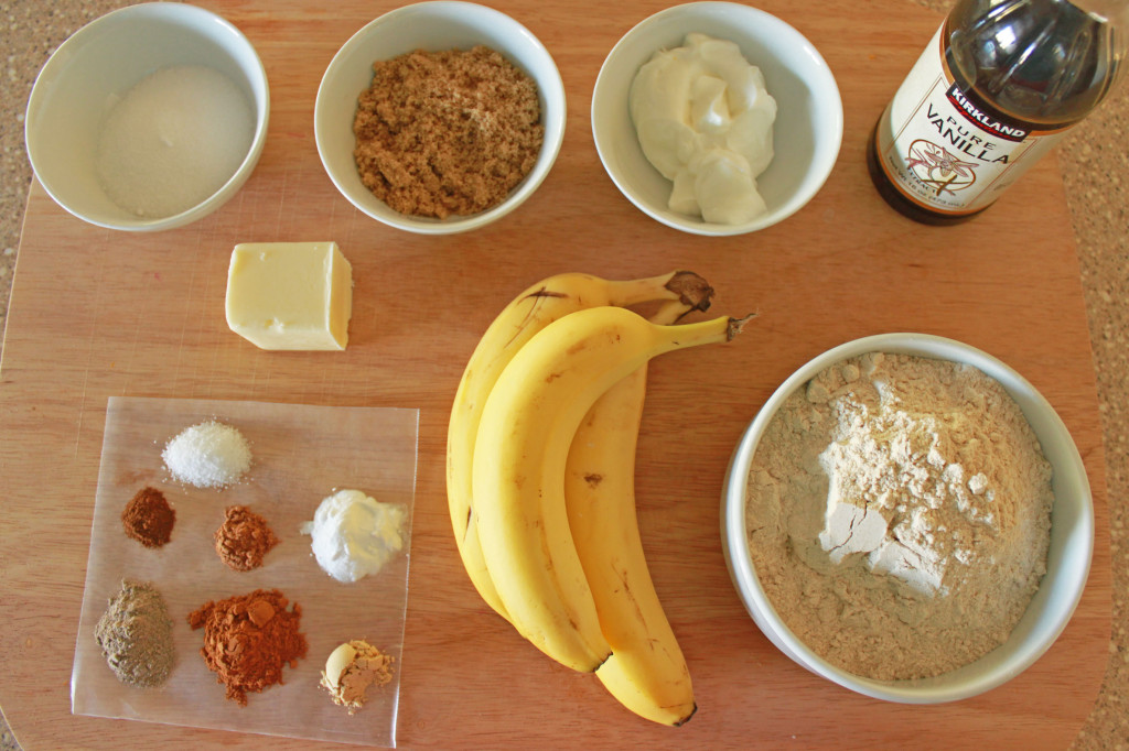 Chai Banana Bread ingredients