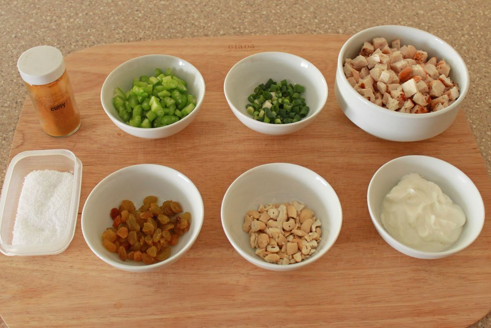 Curry Chicken Salad Boats ingredients