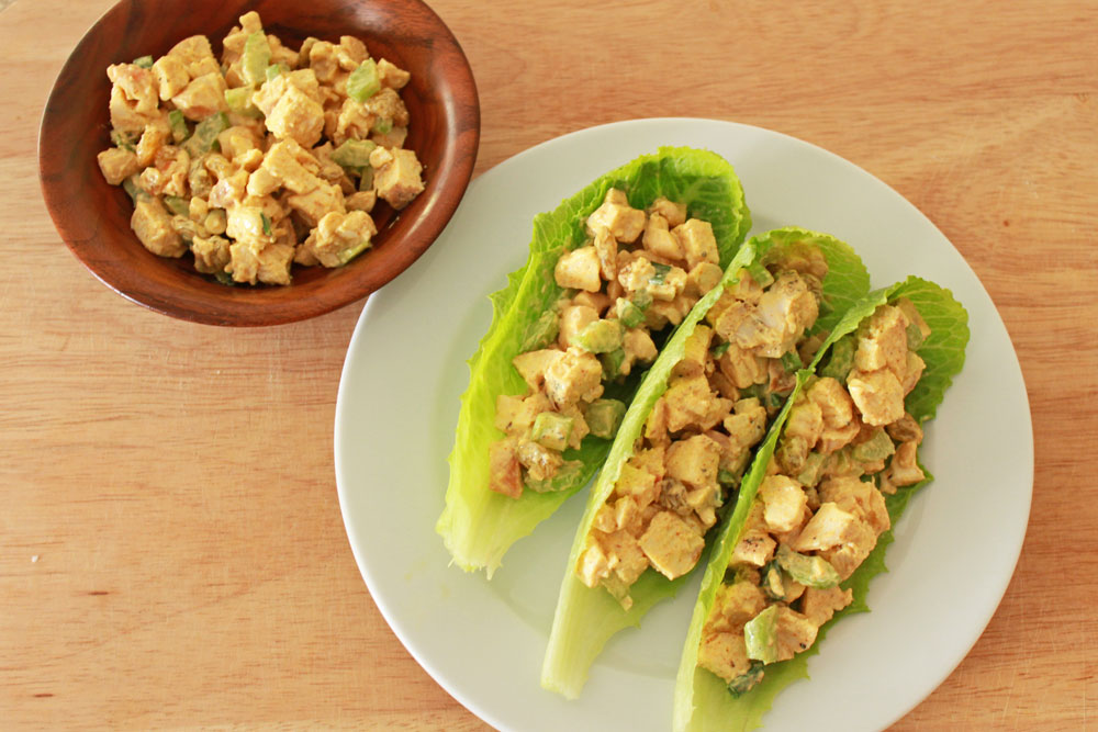 Curry Chicken Salad Boats - Recipe Runner