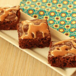 Raspberry Salted Caramel Brownies