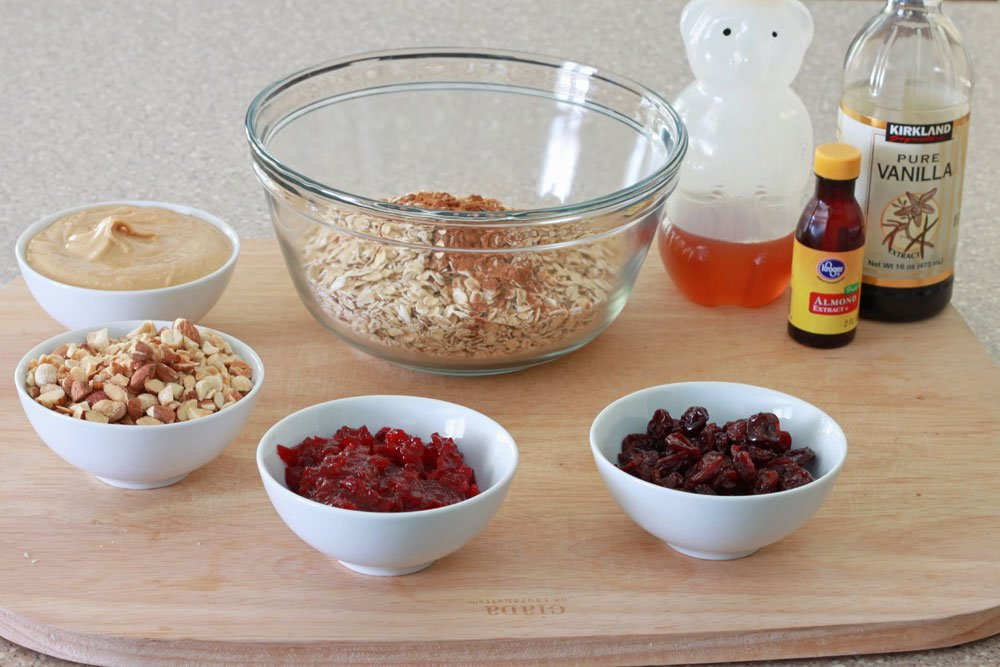 Peanut Butter and Jelly Granola Ingredients
