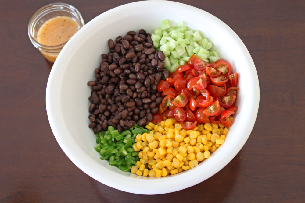 enjoyed making this delicious and fresh black bean and corn salad ...