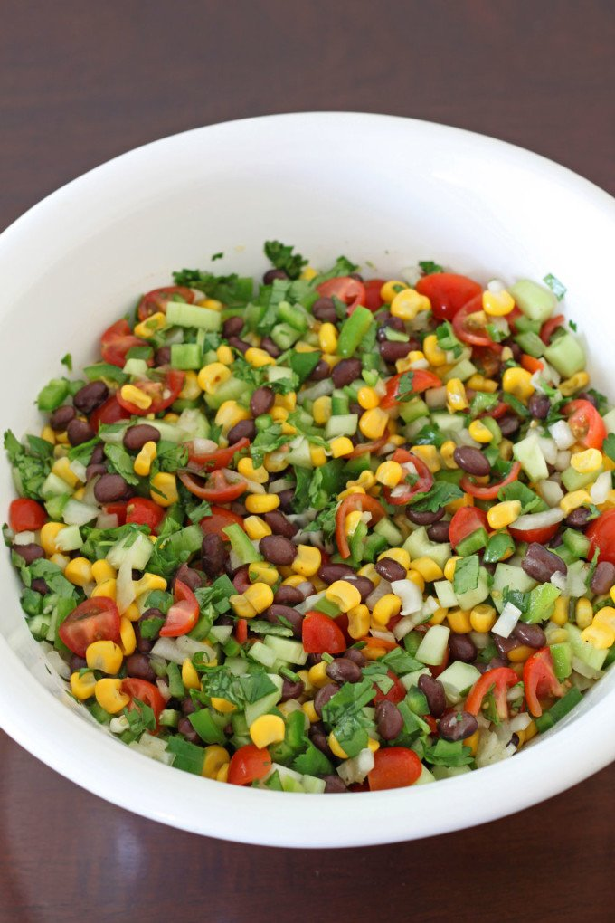 Black Bean and Corn Salsa Salad