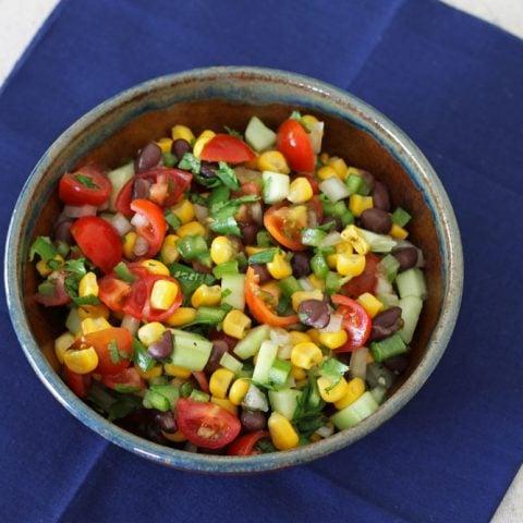 Black Bean & Corn Salsa Salad