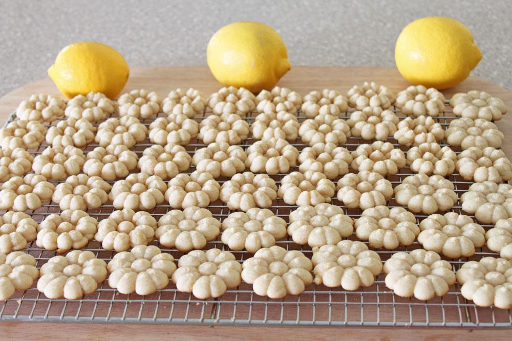 Lemon Sandwich Cookies baking
