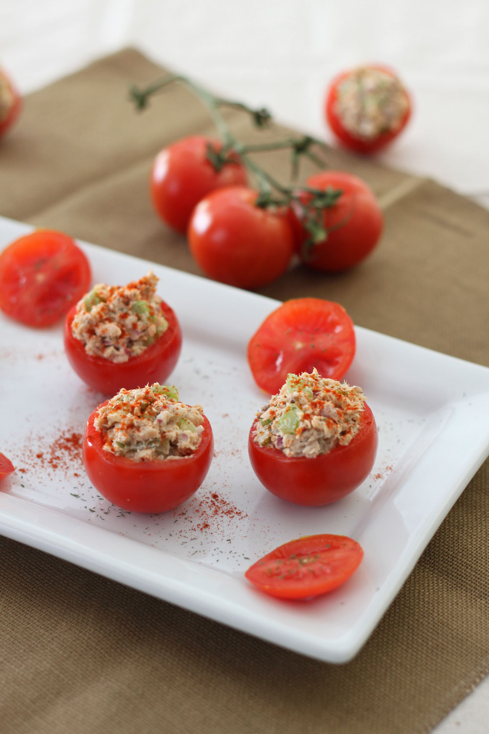 Salmon Salad Stuffed Tomatoes 2