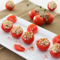 Salmon Salad Stuffed Tomatoes