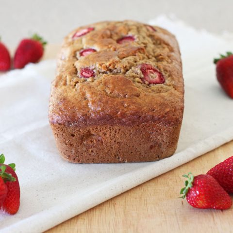 Whole Wheat Strawberry Banana Bread