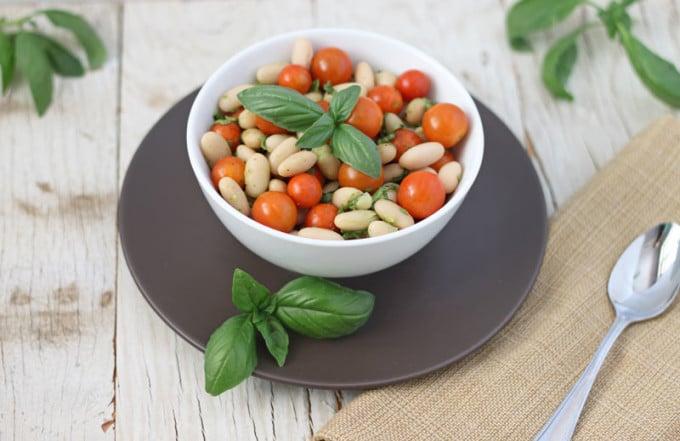 Tomato Basil White Bean Salad