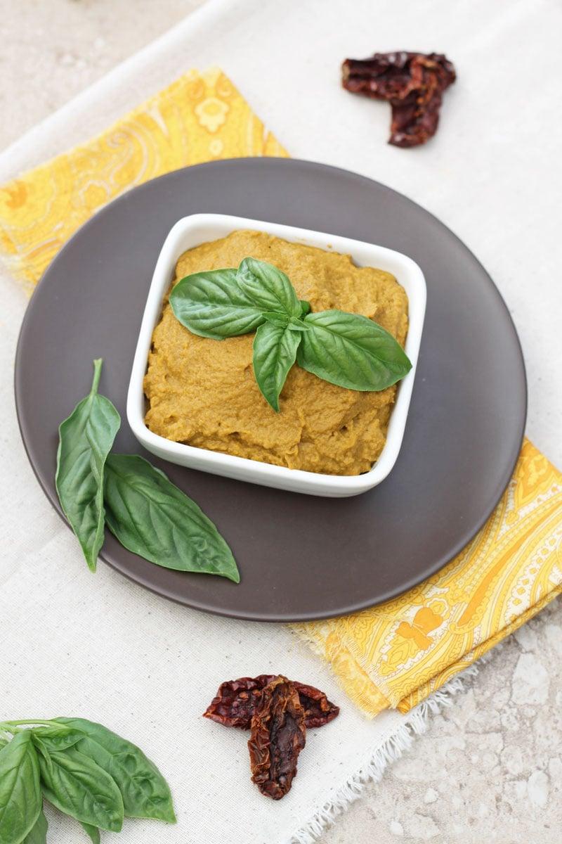 Sundried Tomato Basil Hummus   Recipe Runner