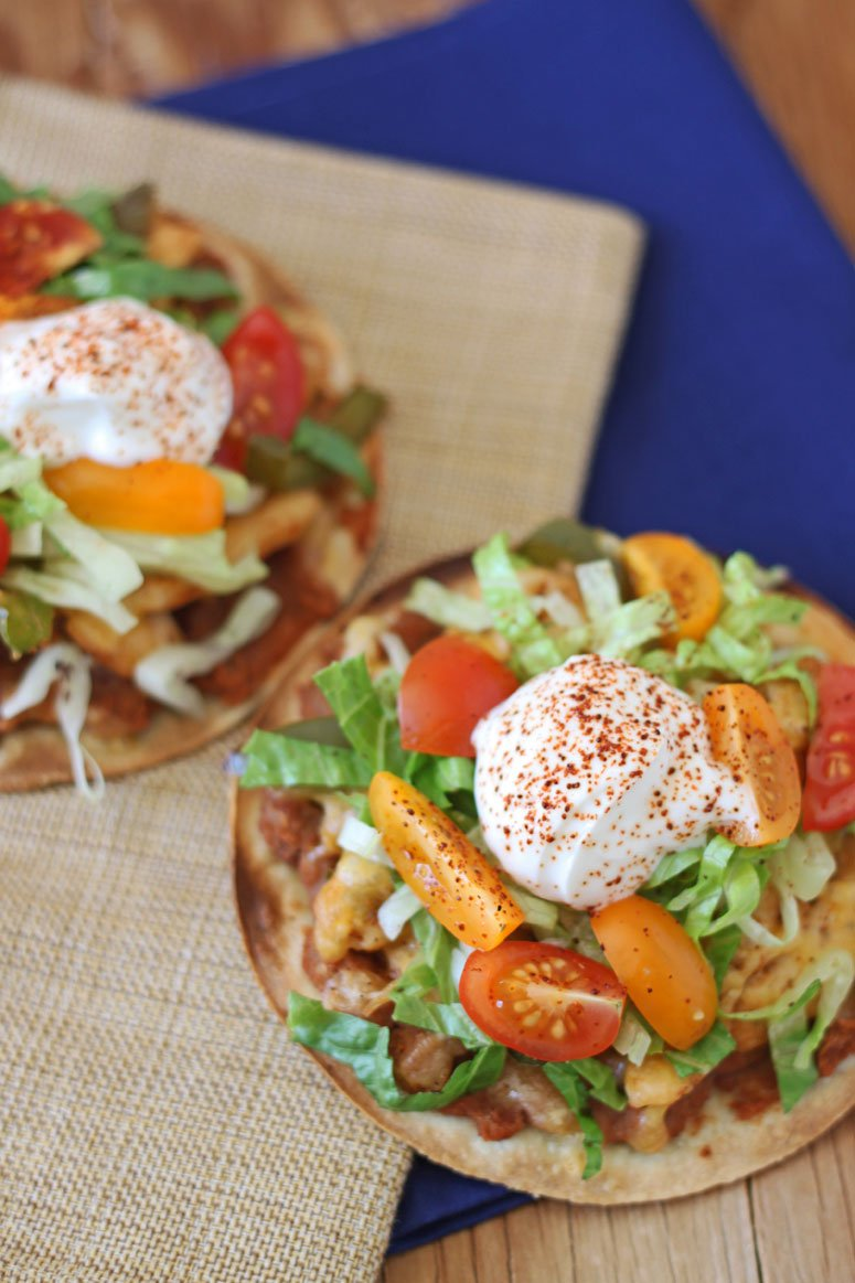 Chipotle Black Bean Tostadas with Onions and Peppers - Recipe Runner