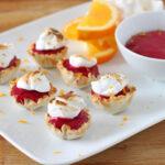 Mini Cranberry Orange Meringue Tarts | www.reciperunner.com