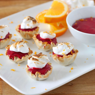 Mini Cranberry Orange Meringue Tarts
