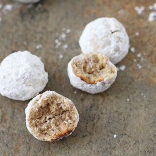 Healthier Snowball Cookies