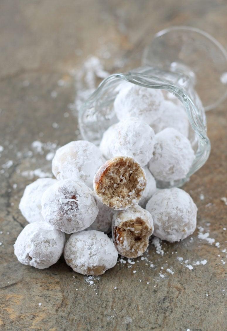 Healthier Snowball Cookies | www.reciperunner.com