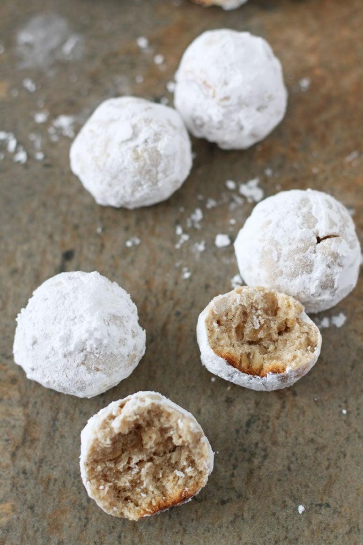 Healthier Snowball Cookies | www.reciperunner