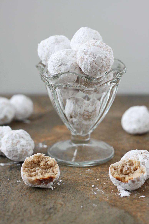 Healthier Snowball Cookies