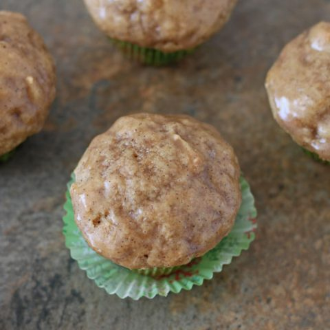 Mini Chai Muffins with Vanilla Bean Glaze