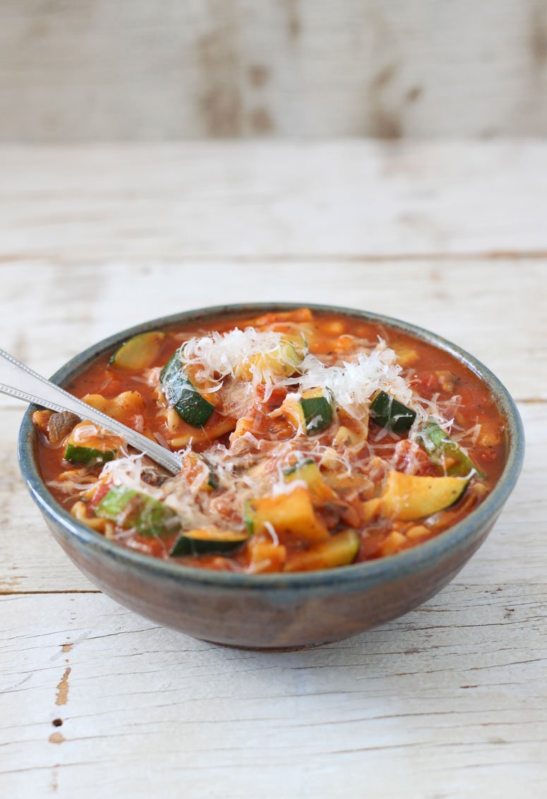 Vegetarian Lasagna Soup - Recipe Runner