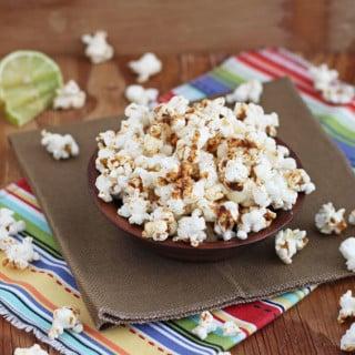 Chipotle Brown Sugar Lime Popcorn & Super Bowl Recipe Roundup