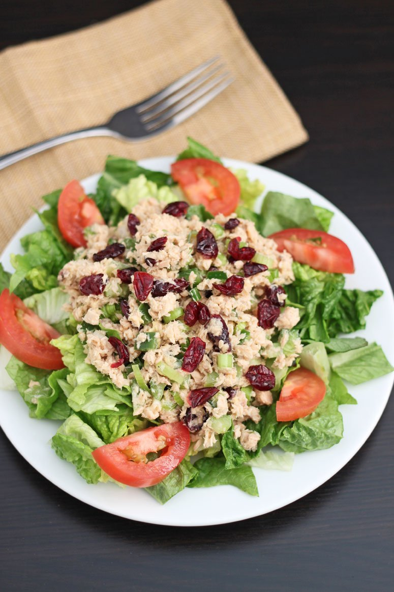 Lemon Dijon Salmon Salad | @reciperunner