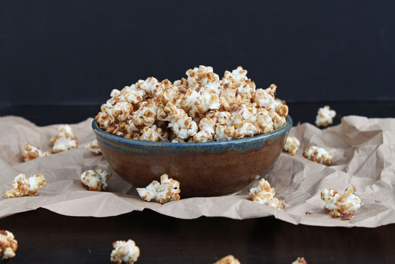Maple Cinnamon Pecan Popcorn