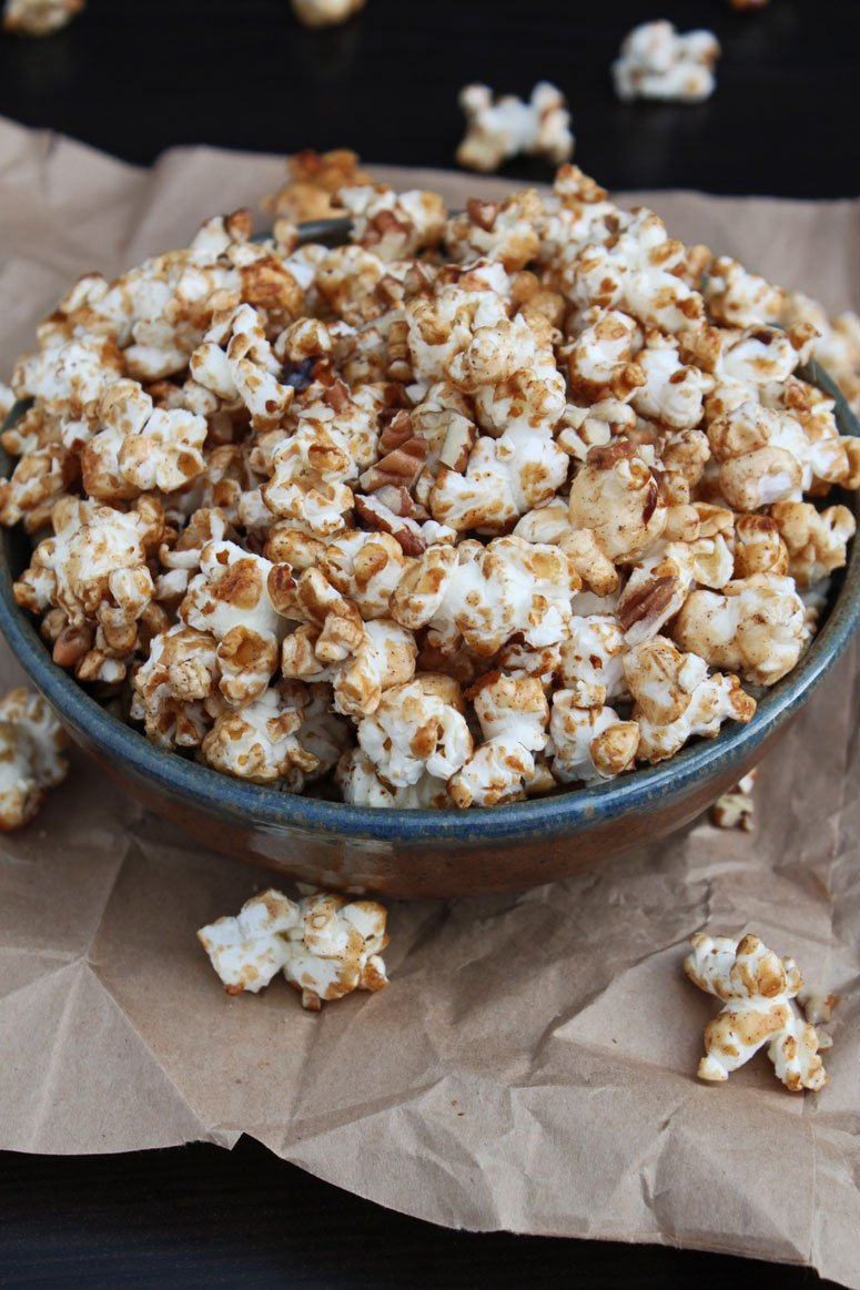 Maple Cinnamon Pecan Popcorn