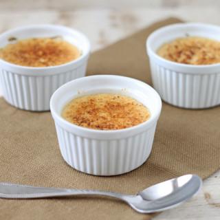 Healthier Vanilla Orange Creme Brulee