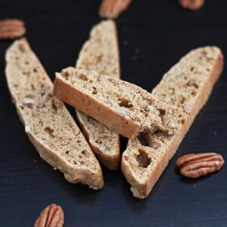 Whole Wheat Banana Pecan Biscotti
