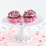 Chocolate Yogurt Cupcakes with Strawberry Frosting