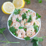 Lemon Parsley Shrimp with Orzo & Peas