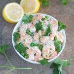 Lemon Parsley Shrimp with Orzo & Peas