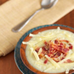 """Creamy"" Cauliflower Soup with Bacon & Cheddar"