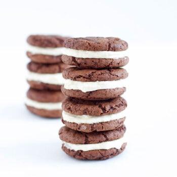 Fudgy Chocolate Kahlua Cookies with Baileys Buttercream   @reciperunner