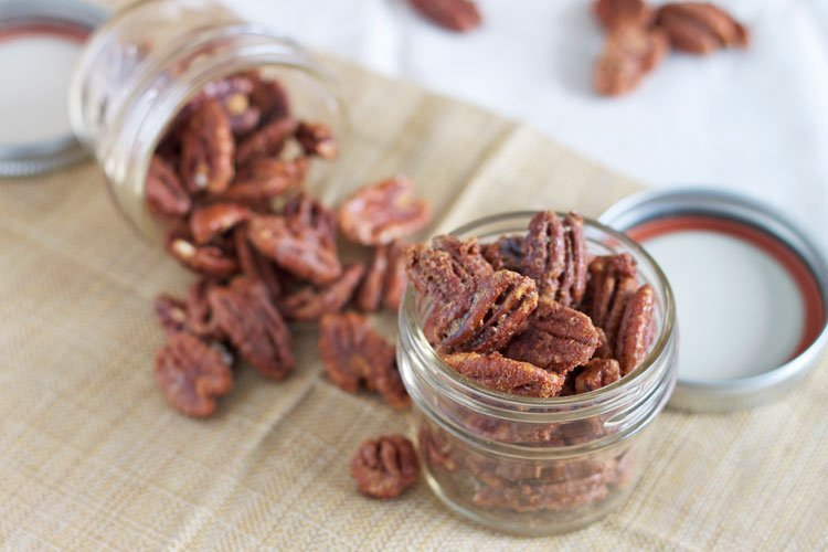 ... pecans and give them out as gifts, but since I had the bourbon I