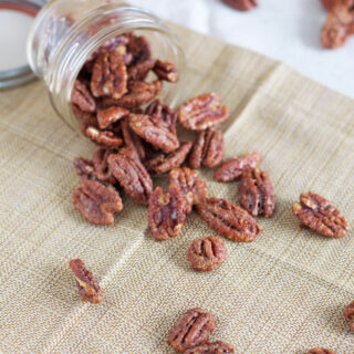 Maple Bourbon Roasted Pecans
