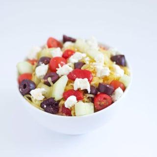 Spaghetti Squash Greek Salad