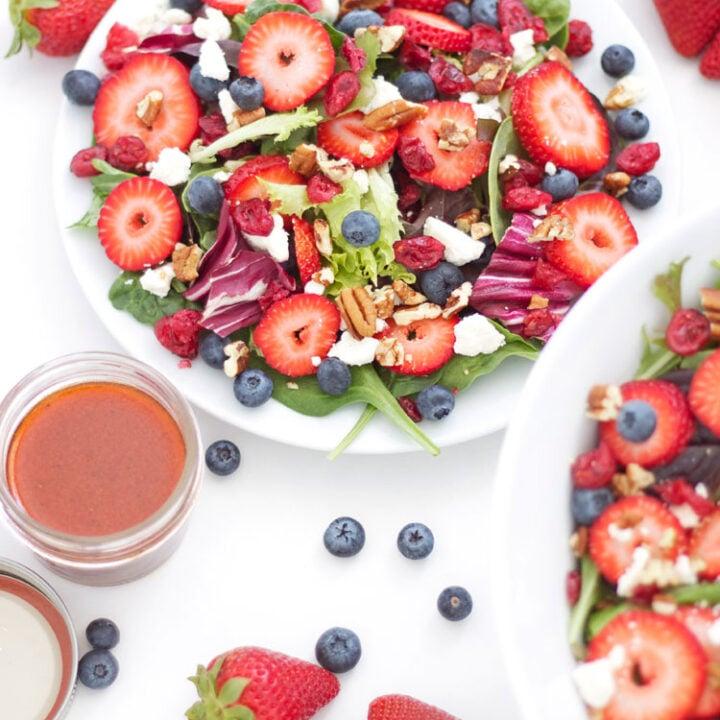 Berries and Feta Salad   www.reciperunner.com