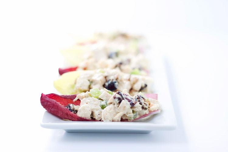 Chicken Salad in Envdive Spears   www.reciperunner.com