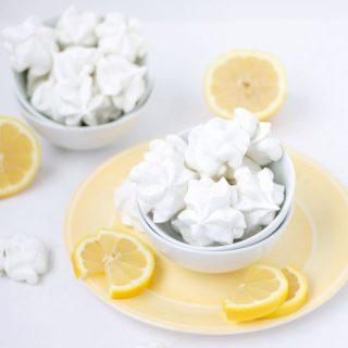 Lemon and Lavender Meringue Cookies
