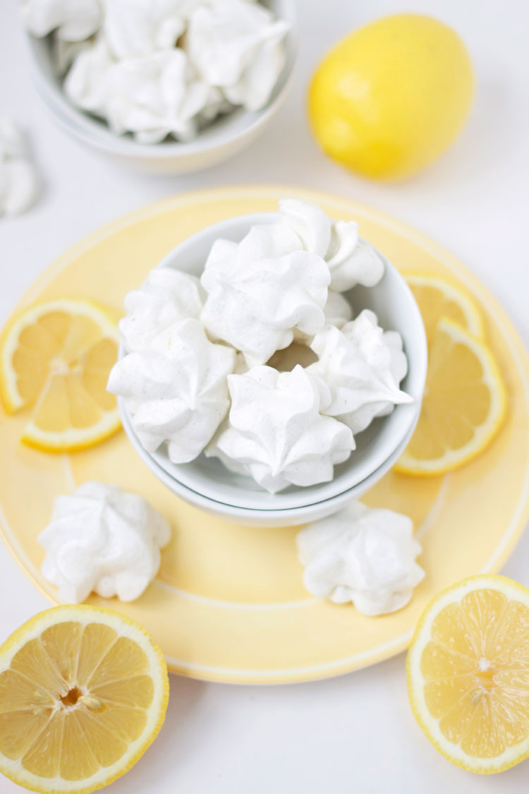 Lemon & Lavender Meringues | www.reciperunner.com