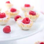 Mini Raspberry Yogurt Phyllo Cups
