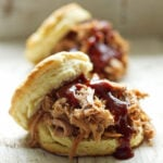 Pulled Pork Biscuit Sandwiches