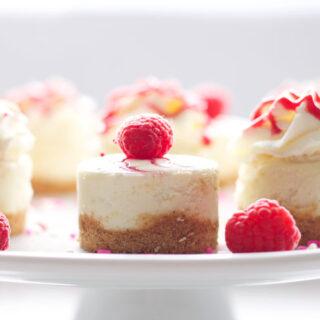 Raspberry Almond Mini Cheesecakes & My Birthday