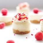 Raspberry Almond Mini Cheesecakes