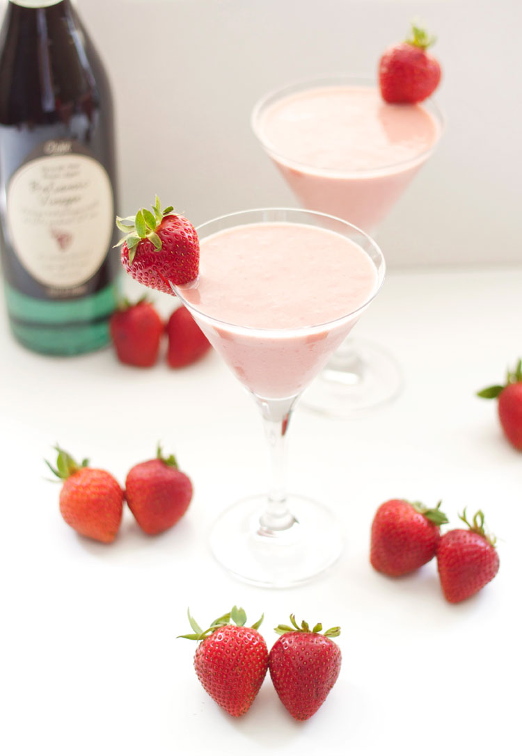 Roasted Strawberry Balsamic Smoothie | Recipe Runner